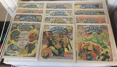 2000AD Progs 416-427 Judge Death - Four Dark Judges - COMPLETE Bagged & Boarded