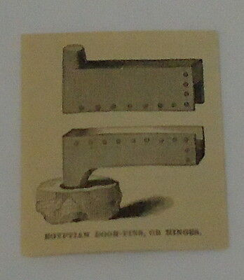 1887 small magazine engraving ~ EGYPTIAN DOOR-PINS, OR HINGES