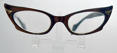 Incredible Original 1950s Vintage Exaggerated Winged Catseye Glasses Spectacles