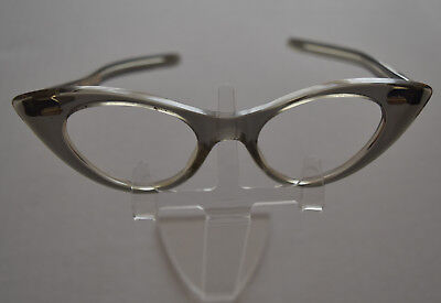Deadstock Original 1950s Vintage Exaggerated Winged Catseye Glasses Spectacles