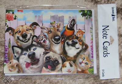 LEANIN TREE Laughing Comical Animals Selfie #35558~8 Notecards~Howard Robinson