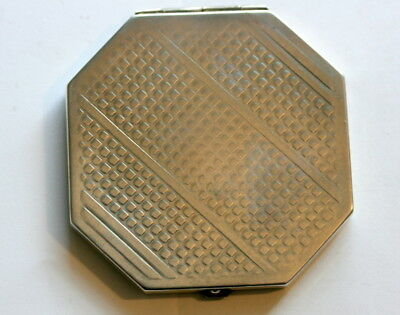 Hallmarked Silver Powder Compact, Closes Well, 87 Gms, 2.5 In Wide