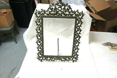 """Victorian Antique Gilt Brass Table Easel Picture Frame Baroque fits 14' x 11"""""""