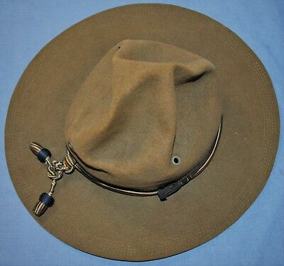 WWI Campaign Hat With Chemical Corps Hat Cord