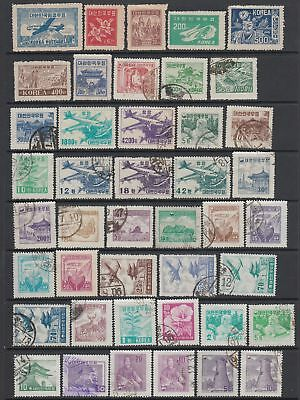 South Korea collection , 74 stamps MH or used