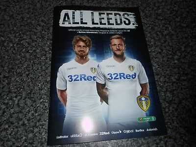 LEEDS UNITED  v  BOLTON WANDERERS  2018/19 CARABAO CUP (L. CUP) 1st ~ AUG 14