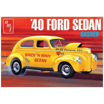 AMT 1088  1940 FORD SEDAN GASSER plastic model kit 1/25  IN STOCK!!