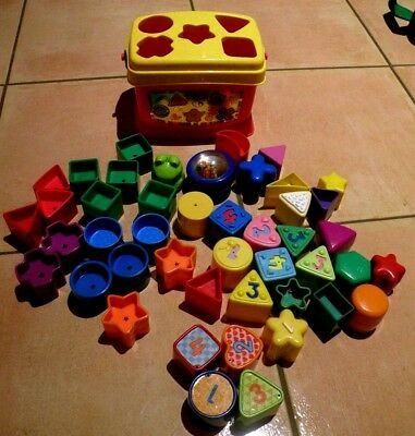 Huge Lot 46pc - Fisher Price Shape Sorter And Much More.