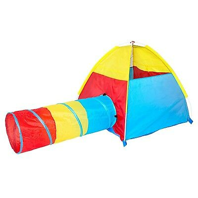 Dome and Tunnel Play Tent Set for Children - Kids Pop Up Play Tent with Tunne...