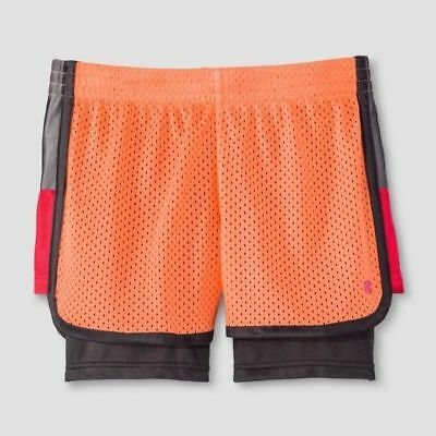 744229ba4 C9 CHAMPION KIDS girls mesh 2 in 1 laser cut shorts sport active ...