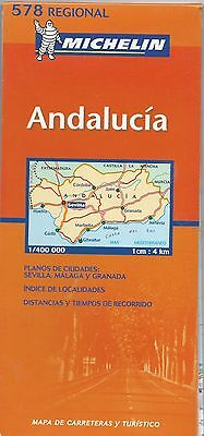 Vintage 1990s Michelin Andalucia Spain Road Map