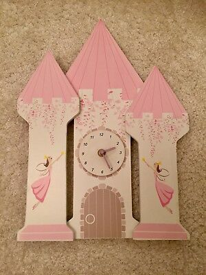 Beautiful Wooden Fairy Castle Clock From Great Little Trading Co.