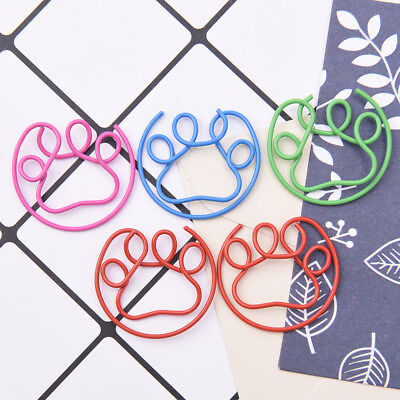 5Pcs Metal Claw Shaped Clips Bookmarks School Office Stationery Paper TB