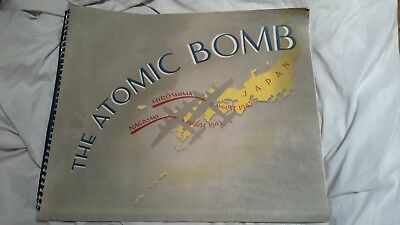 """Rare WWII Photo Book """"The Atomic Bomb"""" US Air Forces memorabilia World War 2"""