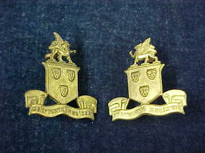Orig WW2 Matching Pair Collars The Wentworth Regiment
