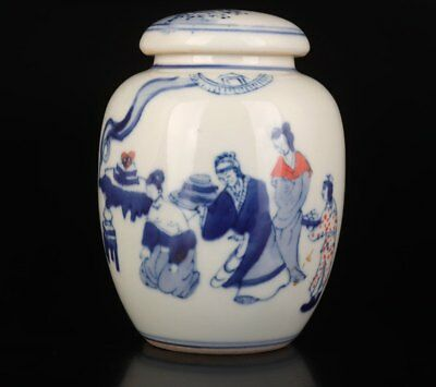 Guangxu Style Chinese Hand-Painted Yue Fei Deficit Jar Old Decoration  Porcelain