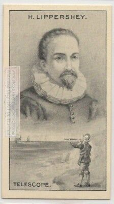 Telescope Inventor Hans Lippershey Astronomy Galileo 90+ Y/O Trade Ad Card