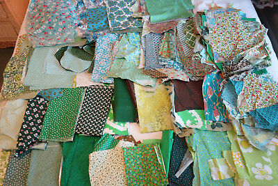 Large Vintage Fabric Quilt Cutter Scrap fabric Lot Floral Prints 7bs A