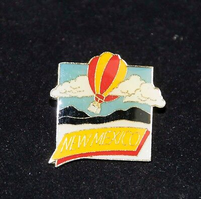New Mexico HOT AIR BALLOON Enameled Stick Pin   colorful Balloon over Mountains