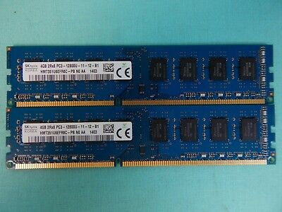 8GB Kit (2x4GB) SK Hynix PC3-12800U Desktop Memory DDR3 RAM Non ECC 70146AL