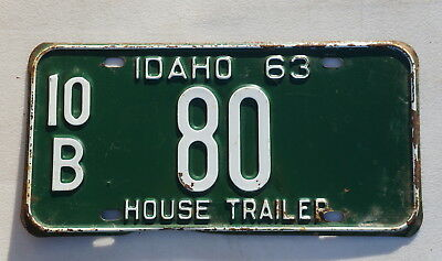 1963 Idaho License Plate Tag Number # 80