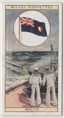 Flag of Crown Colony of the Island of Malta  80+ Y/O Ad Trade Card