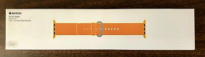 NIB Apple Watch 42mm Woven Nylon Band Gold Red MMA62AM/A SOLD OUT
