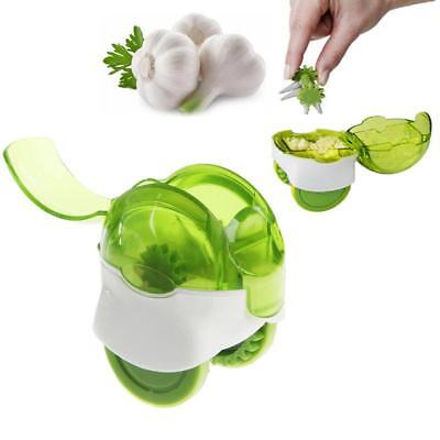 Kitchen Garlic Press Chopper Slicer Hand Presser Grinder Crusher Practical D
