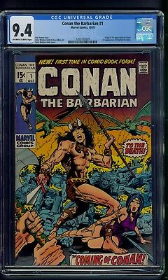 Conan the Barbarian #1 (1970) CGC Graded 9.4 ~ Origin & 1st Appearance Conan