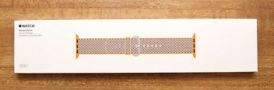 NIB Apple Watch 42mm Spicy Orange Woven Nylon Band MQVP2AM/A Sold Out