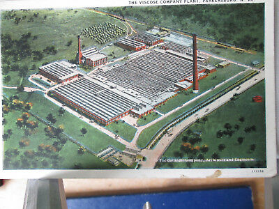 Vintage Postcard The Viscose Company Plant, Parkersburg, West Virginia