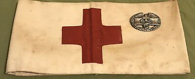 WW2 US Army Combat Medical Badge & Armband