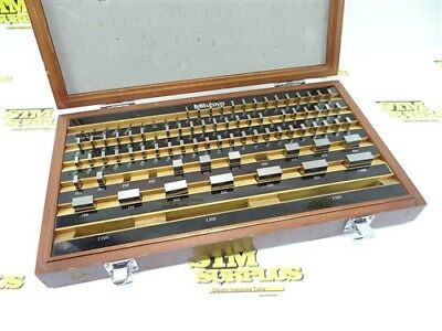 """Nice! Set Of Mitutoyo Precision Machinists Gauge Blocks Partial .050"""" To 1"""""""