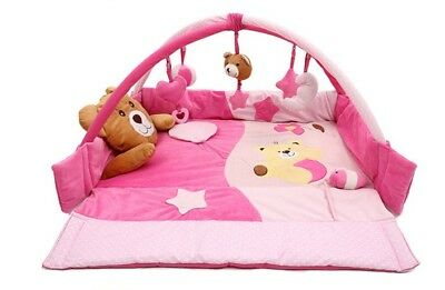 A9 Pink Baby Fitness Bodybuilding Frame Velvet Cotton Play Mat Activity Gym A