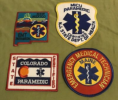 Group Of State EMT Paramedic Patches