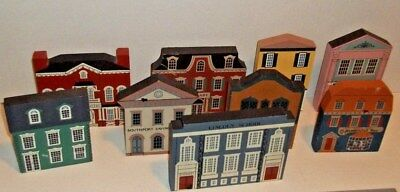 Vintage Cat's Meow Village (Collection of 12)  Buildings 1987-1992