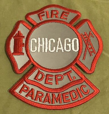 Chicago FD Reflective Paramedic Patch