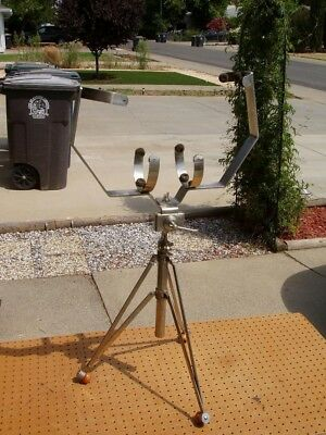 Vintage Tuba Stand Buck Horn King ?? Tripod Collapsible Music Rare Decent Cond