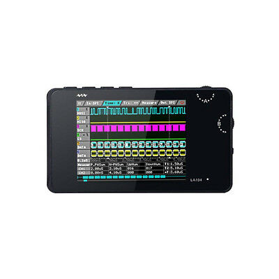"LA104 Handheld 4-Channel Logic Analyzer 100Mhz 8MB Memory 2.8"" Display US Stock"