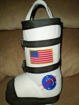 "Space Man Astronaut Boot Christmas Stocking /  Easter Basket  13"" high"