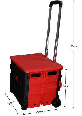 A4 Folding Aluminium HeavyDuty Luggage Trolley Hand Truck Foldable Shopping Cart