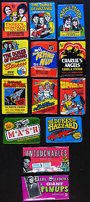 13 Tv Series Gum Packs: Mork & Mindy, Flying Nun, Space: 1999, M*a*s*h, Etc