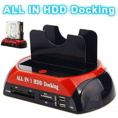"Usb 2.0 Dual 2.5"" 3.5"" Ide + Sata Hdd Hard Drive Disk Dock Docking Station"