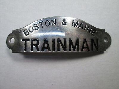 B&M Boston & Maine TRAINMAN Uniform Hat Badge