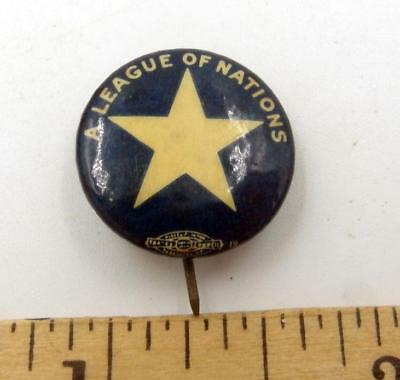 1920 A League Of Nations Pin Scarce