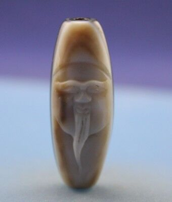 46*17 mm Antique Dzi Agate old Bead from Tibet **Free shipping**