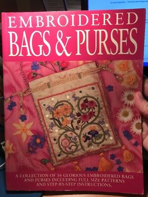 craft book - EMBROIDERED BAGS & PURSES - includes full-sized patterns