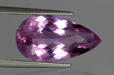 Flawless 17.35 Cts Natural Pear Cut Afghanistan Pink Patroke Kunzite No Reserve