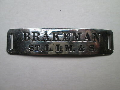 StLIM&S St. Louis Iron Mountain & Southern BRAKEMAN Uniform Hat Badge