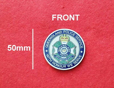 Queensland Police Service Map Challenge Coin (social)